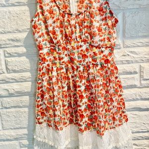 Beautiful flower boho dress